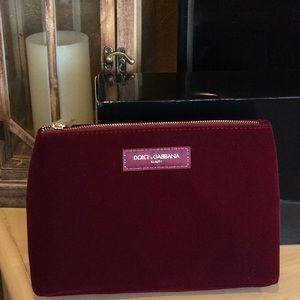 NEW in box Dolce & Gabbana Velvet Beauty bag
